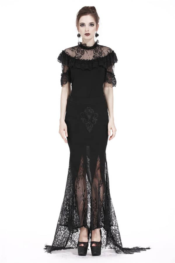 Swallow Laced Long Tail Skirt